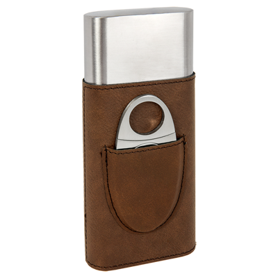 Custom engraved cigar cases, corporate gifts from Engraver's Den