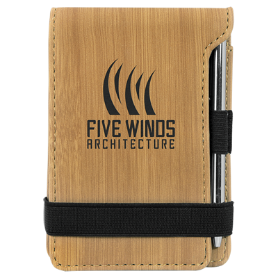Engraved promotional notepad with pen, Engraver's Den