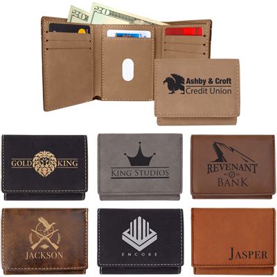 Engraved promotional wallets, Engraver's Den