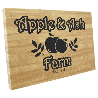 Custom engraved cutting boards from Engraver's Den