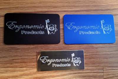 Engraved promotional tags, Engraver's Den