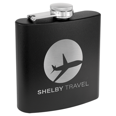 Custom engraved promotional travel flasks from Engraver's Den