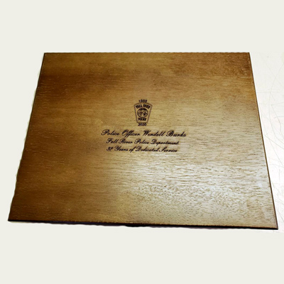 Engraved wooden security box, Engraver's Den