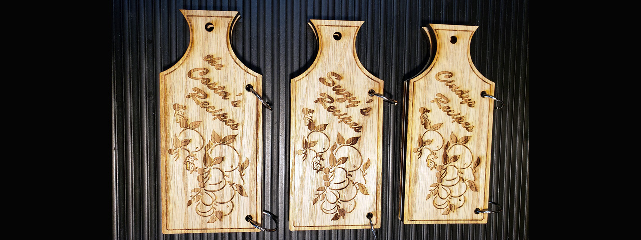 Custom engraved wood products, wood engraving services, Engraver's Den